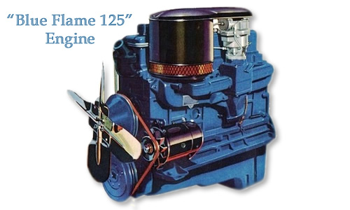 "It was outfitted with a 6 cylinder ""Blue-Flame"" engine"